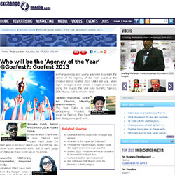 Banana Brandworks' Opinion on Agency of the year in Goa Fest 2013